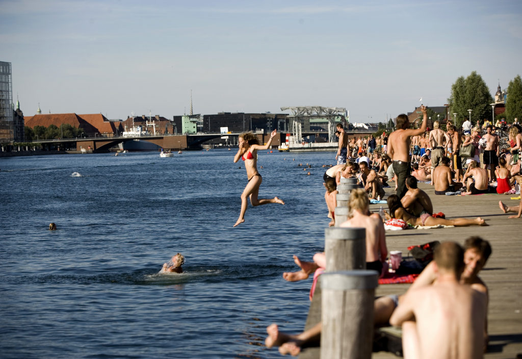 Пляж Islands Brygge Дания