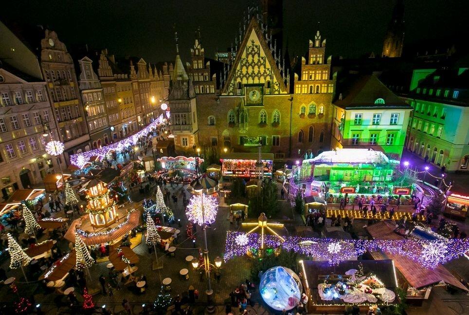 Рыночная площадь Вроцлав Польша