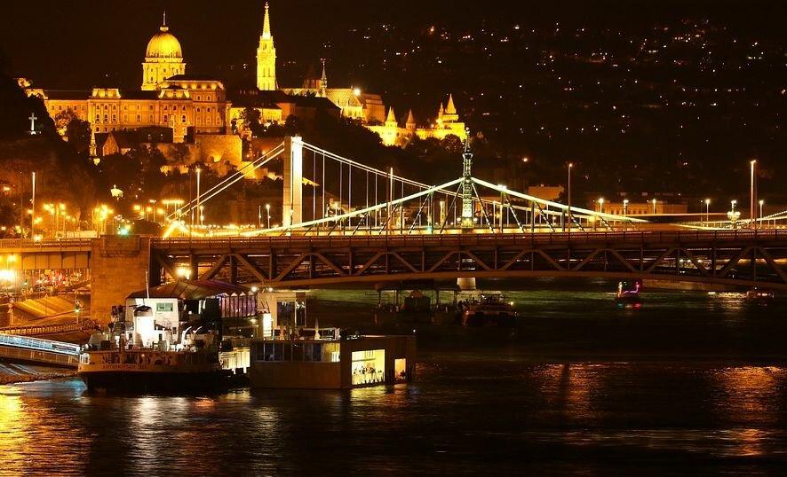 Ночной Будапешт Венгрия