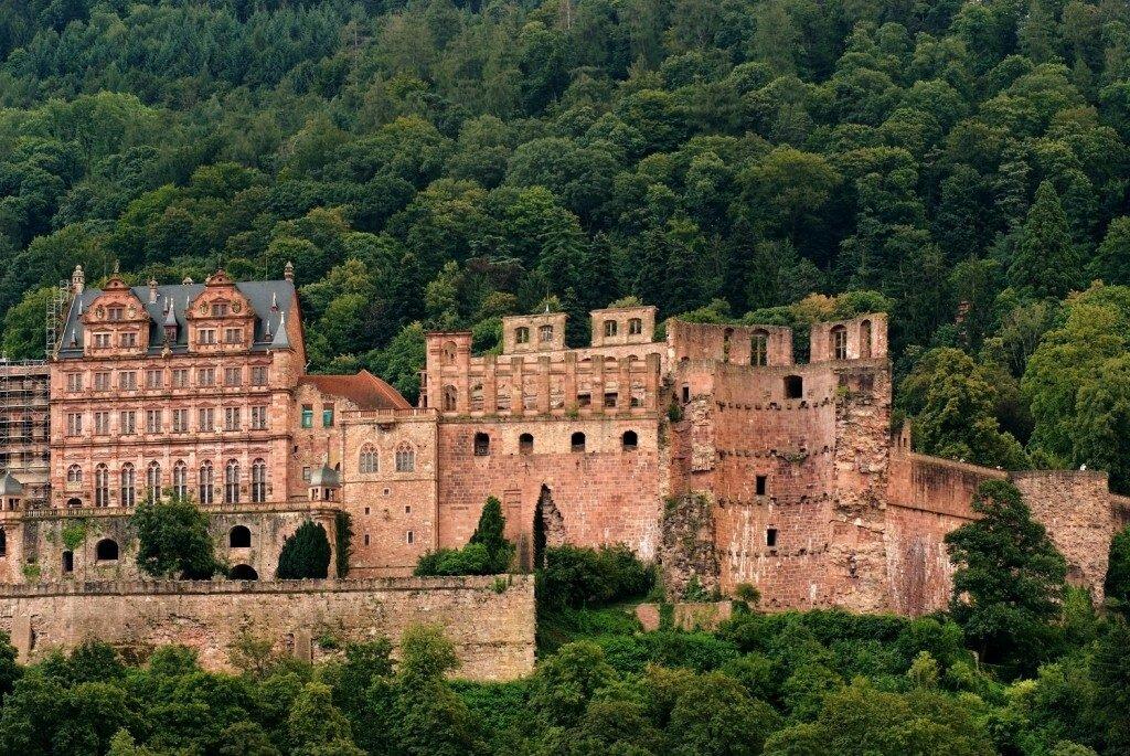 Замок в Гейдельберге Германия
