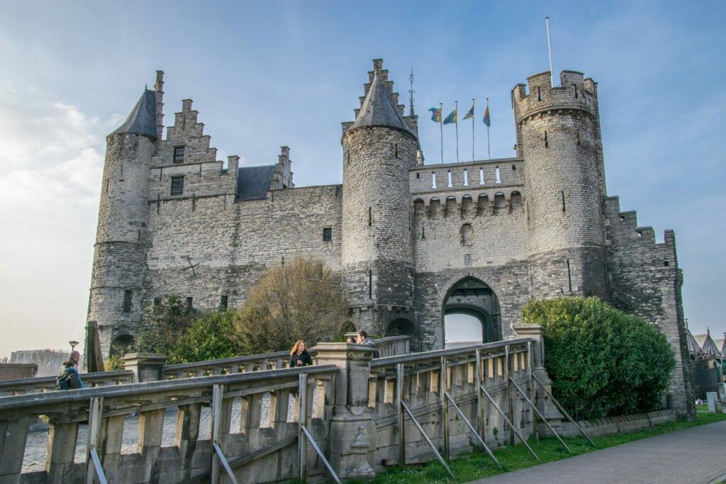 Замок Стен Антверпен Бельгия